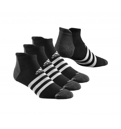 CALCETINES TOBILLEROS CLIMALITE ADIDAS 3S LINEA NEGRA