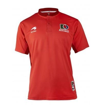 Camiseta Replica Pelota Asegarce rojo jr